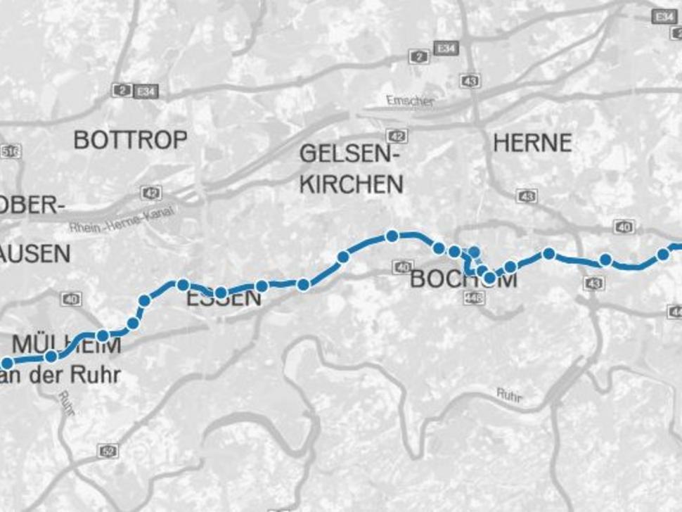 Karte Ruhrgebiet.Regionalverband Ruhr Karten Und Geodaten