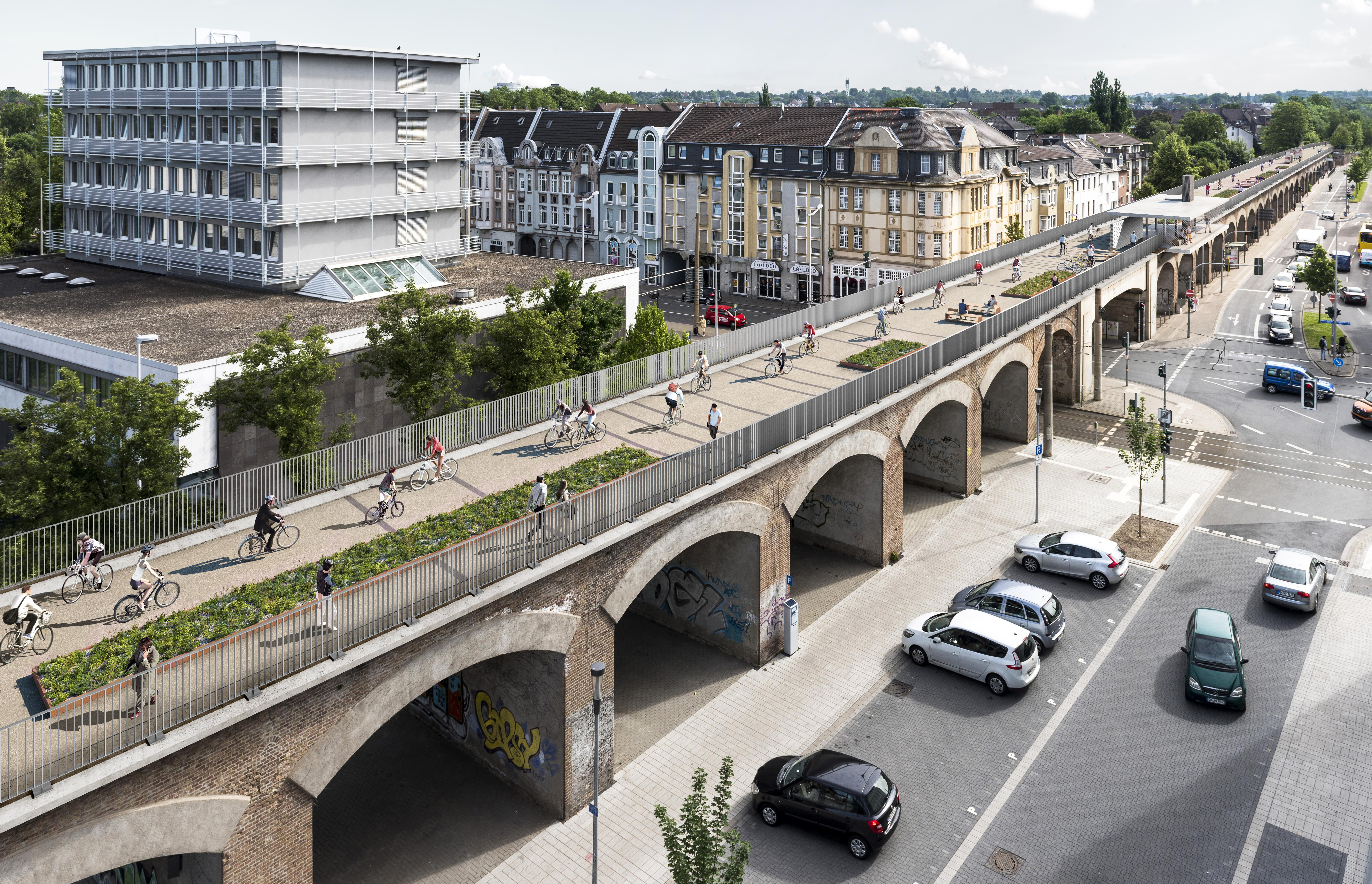 Stadtviadukt in Mülheim. Illustration: P3/AGFS