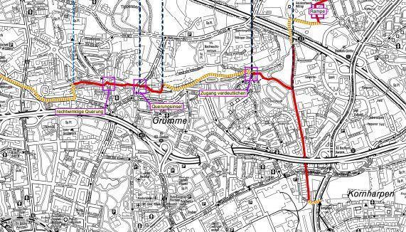 Bochum Karte.Bauprojekt Emscher Park Radweg Bochum